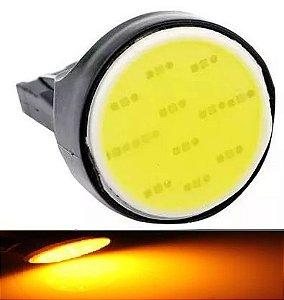 Lampada T20 Cob Led 1 Polo 7440 W21w Laranja 12v