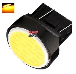 LAMPADA T20 COB LED 1 2 POLO 7440 7443 W21W LARANJA 12V