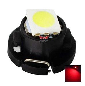 LAMPADA T3 8MM LED VERMELHO 12V