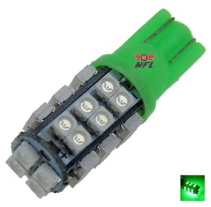 LAMPADA T10 28 LED W5W VERDE 12V