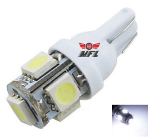 LAMPADA T10 5 LED W5W BRANCO 5050 12V