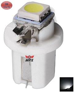 LAMPADA T5 B8.5 D 1 LED BRANCO 24V