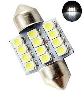 LAMPADA TORPEDO 12 LED C5W 31 MM BRANCO 12V
