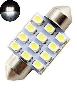 LAMPADA TORPEDO 12 LED C5W 36 MM BRANCO 12V