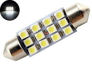LAMPADA TORPEDO 12 LED C5W 41 MM BRANCO 12V