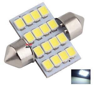 LAMPADA TORPEDO 16 LED C5W 31 MM BRANCO 12V