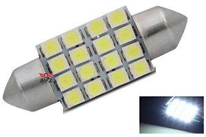 LAMPADA TORPEDO 16 LED C5W 36 MM BRANCO 12V