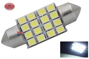 LAMPADA TORPEDO 16 LED C5W 36 MM BRANCO 24V