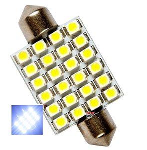 LAMPADA TORPEDO 24 LED C5W 39 MM BRANCO 12V