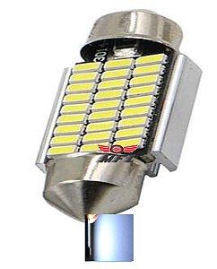 LAMPADA TORPEDO CAMBUS 27 LED C5W 36 MM BRANCO 12V