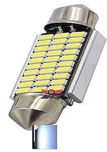 LAMPADA TORPEDO CAMBUS 30 LED C5W 39 MM BRANCO 12V