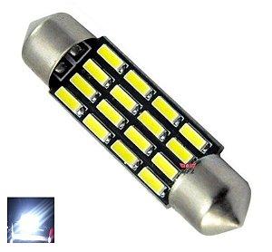 LAMPADA TORPEDO CAMBUS 16 LED C5W 39 MM BRANCO 12V