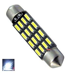 LAMPADA TORPEDO CAMBUS 16 LED C5W 41 MM BRANCO 12V