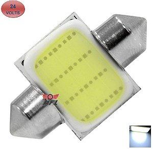 LAMPADA TORPEDO COB LED C5W 31 MM BRANCO 24V