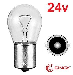 Caixa c/ 10 Lampada Ba15s 1141 Halogena 1 Polo P21w Cinoy 24V