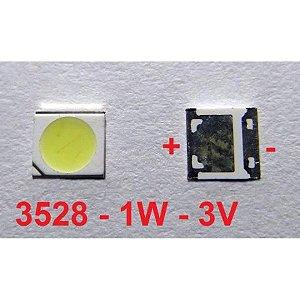 Chip Super Power Led 1w 3v 3528 Branco Frio