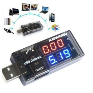 Voltímetro Amperímetro Digital Usb Testador