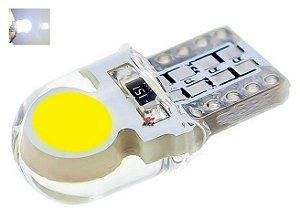 LAMPADA T10 SILICONADA COB4 LED W5W BRANCO 12V