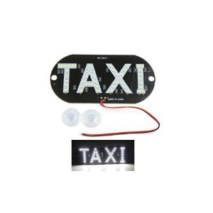 Placa Luminosa 45 Led Taxi Branco