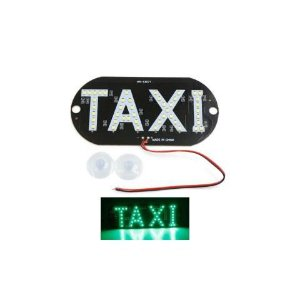 Placa Luminosa 45 Led Taxi Verde