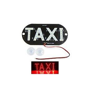 Placa Luminosa 45 Led Taxi Vermelho