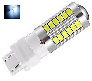 LAMPADA T25 CREE 33 LED 1 E 2 POLO 3156 3157 W27W BRANCO 12V
