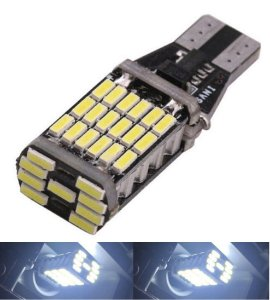 Lampada T15 Cambus 45 Led Canceller W16w Branco 12v
