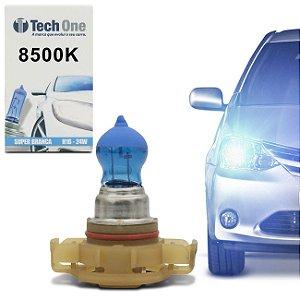 Lampada Super Branca H16 Borboleta 8500k Xenon 12v 24w Techone (unidade) 12v