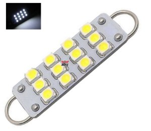 Lampada Torpedo 12 Led C5w 44 Mm Branco 12v