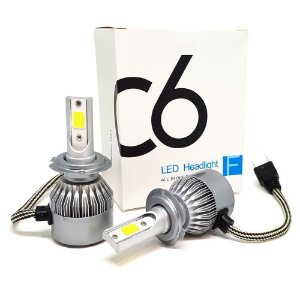 Kit 2 Lampadas Super Led H1 12v / 24v 7000 Lumens 6000K