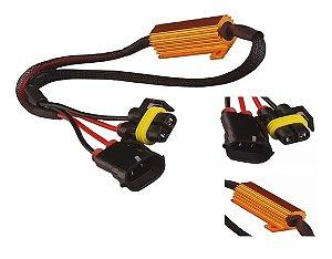 """Resistor Canceller Lampada H11 H8 H9 H16 """"Cachimbo"""" 50w Livre Erros (unidade)"""