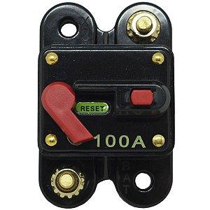 Disjuntor Protetor Som Automotivo 100A Techone Svart