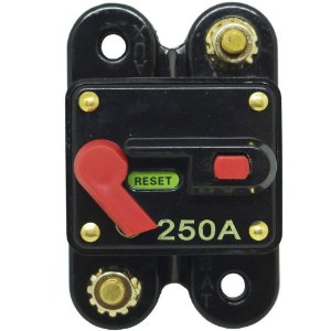 Disjuntor Protetor Som Automotivo 250A Techone Svart