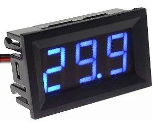 Voltímetro Digital Medidor Bateria Som 4.5-30v Azul