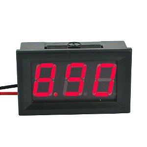 Voltímetro Digital Medidor Bateria Som 4.5-30v Vermelho