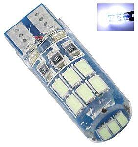 Lampada T10 Siliconada 15 Led W5w Branco 12v