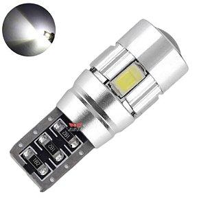 LAMPADA T10 CAMBUS CREE 6 LED W5W BRANCO 12V