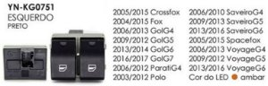 INTERRUPTOR VIDRO ESQ CROSSFOX 05/15, FOX 04/15, GOLG4 06/13