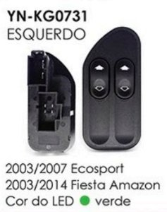 INTERRUPTOR VIDRO ESQ ECOSPORT 03/07,FIESTA AMAZON 02/14