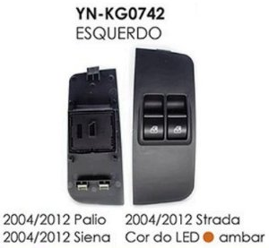 INTERRUPTOR VIDRO ESQ PALIO 04/12, SIENA 04/12, STRADA 04/12
