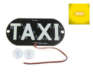 Placa Luminosa 45 Led Taxi Amarelo