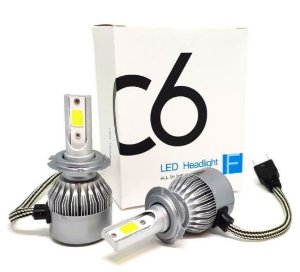 Kit 2 Lampadas Super Led H27 881 12v 24v 7000 Lumens 6000K