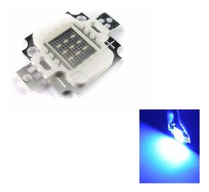 Chip Super Power Led 10w 9v-12v Azul