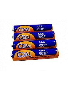 Kit 4 Pilhas Palito AAA Marca Goal