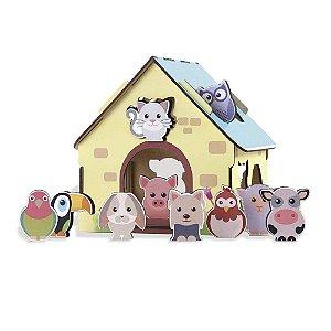 Passa Figuras Animais da Fazendinha - Babebi