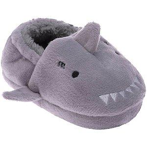 Pantufa Infantil Cinza Tubarão - Pimpolho