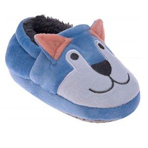 Pantufa Infantil Cachorrinho Azul - Pimpolho