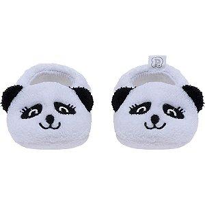 Pantufa Baby Tamanho Único Branco Panda - Pimpolho