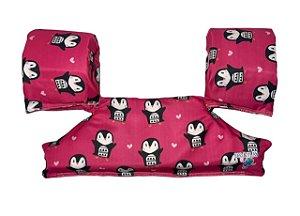 Bóia Colete Infantil Salva - Vidas Pinguim Rosa - Ecoeplay