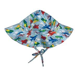 Chapéu de Banho Infantil Com FPS 50+ Aviões - Ecoeplay